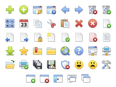 Stock icons for Windows application toolbars