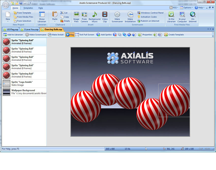 Axialis Software - Screensaver Producer