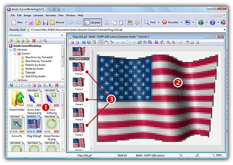 Tutorial create an animated cursor from an animated gif axialis flag usaf courtesy of 3dflags negle Gallery