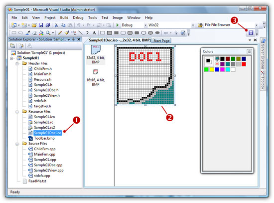 visual studios how to add buttons and others